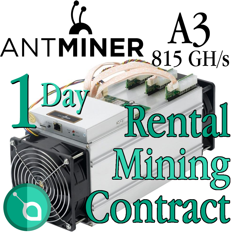 Daily Antminer A3-Blake(2b) - 24 hours – 815 GH/s mining for a day