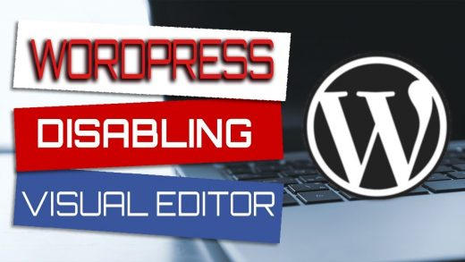 Disabling the visual editor in WordPress for your user profile and use html code instead-2017 guide