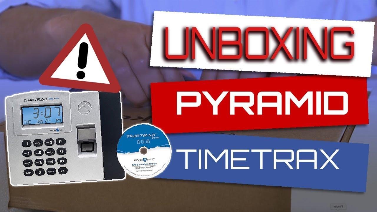 Small Biz Tech-Pyramid TimeTrax Elite Biometric Time & Attendance Time clock for Small Business HR