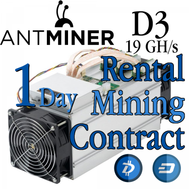 Bitmain Antminer D3 daily (24 hours) short term rental on the pool of your choosing