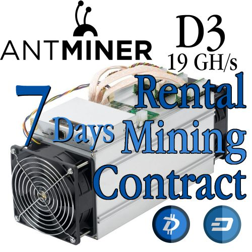 Antminer D3 Rental Contract - Cuban Hacker