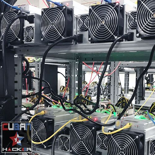 Antminers Rack, ready to mine - Cuban Hacker