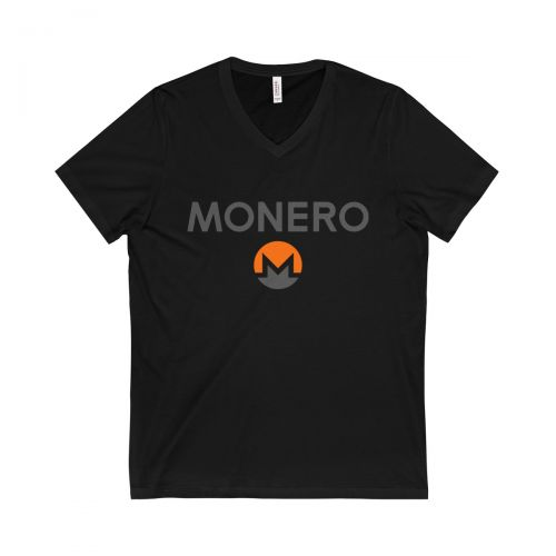 Unisex Jersey Short Sleeve V-Neck Tee - Monero