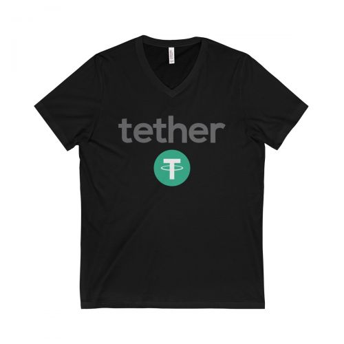 Unisex Jersey Short Sleeve V-Neck Tee - Tether