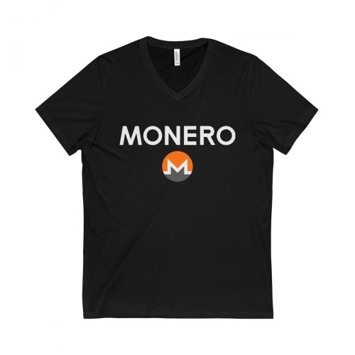 Unisex Jersey Short Sleeve V-Neck Tee - Monero white