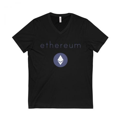 Unisex Jersey Short Sleeve V-Neck Tee - Ethereum