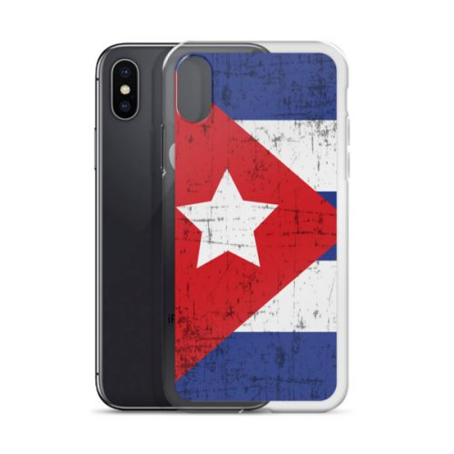 iPhone X Case - Cuban Flag Grunge
