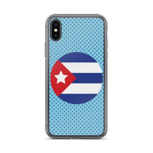 iPhone X Case - Cuban Flag Circle