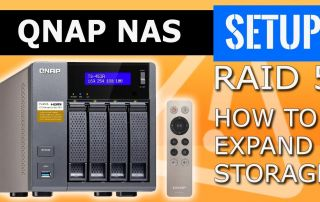 QNAP NAS RAID 5 expansion Data protection, how to expand storage. RAID level upgrade hard drives