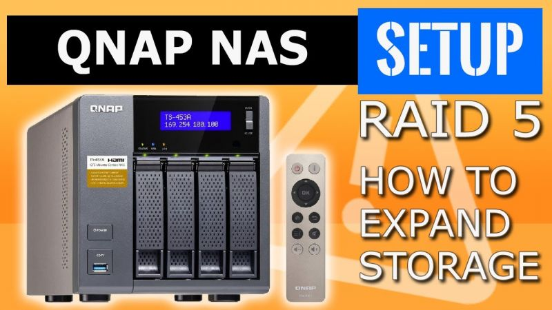 QNAP NAS  How to expand a RAID5 volume  QNAP drive expansion