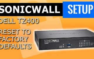Reset dell Sonicwall nsa firewall to factory default /saved configuration,business networking